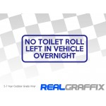 No Toilet Roll Sticker