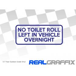 No Toilet Roll Sticker