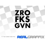 ZRO FKS GVN Sticker