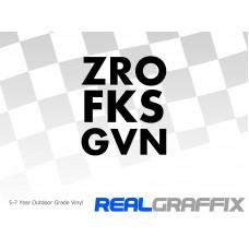 ZRO FKS GVN Sticker